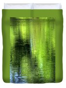 Yamhill River Abstract 24831 Duvet Cover