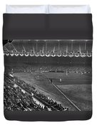 Yankee Stadium Game Duvet Cover by Underwood Archives