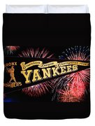 Yankees Pennant 1950 Duvet Cover by Bill Cannon
