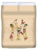 Yankees Vintage Art Duvet Cover