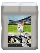 Yankees Vs Indians Duvet Cover