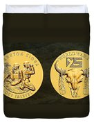 Yankton Sioux Tribe Code Talkers Bronze Medal Art Duvet Cover