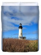 Yaquina Bay Lighthouse In Oregon Duvet Cover