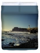 Yaquina Lighthouse And Beach No 2 Duvet Cover