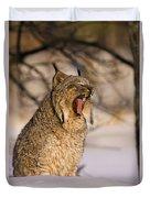 Yawn Duvet Cover