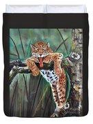 Yawning Leopard Duvet Cover