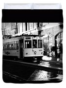Ybor Street Car Duvet Cover