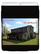 Ye Old Homestead Duvet Cover