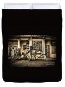 Ye Olde Sweet Shoppe Sepia Duvet Cover