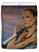 Yelena Isinbayeva   Duvet Cover by Paul Meijering