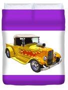 Yellow 1928 Hotrod Pickup Truck  Duvet Cover