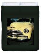 Yellow 47 Chevrolet Duvet Cover