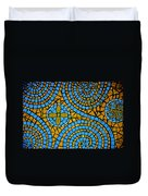 Yellow And Blue Mosaic Duvet Cover