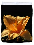 Yellow And Cream Day Lily Duvet Cover