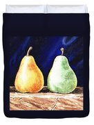 Yellow And Green Pear Duvet Cover