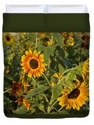 Yellow And Orange Sunflowers Duvet Cover
