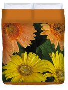Yellow And Peach Duvet Cover