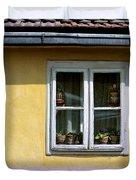 Yellow And Pink Facade. Belgrade. Serbia Duvet Cover