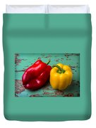 Yellow And Red Bell Pepper Duvet Cover