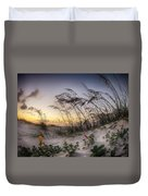 Yellow And Red Flowers On The Beach Duvet Cover