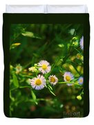 Yellow And White Dasies Duvet Cover
