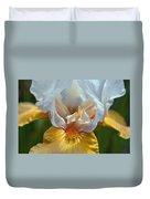 Yellow And White Iris Duvet Cover