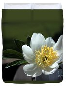 Yellow And White Peony Flower Duvet Cover
