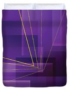Yellow Angles Through Purple Landscape Duvet Cover