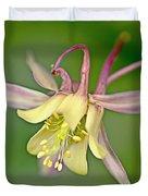 Yellow Aquilegia Bloom Duvet Cover