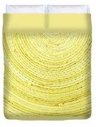 Yellow Arcs Duvet Cover