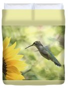 Yellow Attraction Duvet Cover