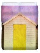 Yellow Beach Hut Duvet Cover