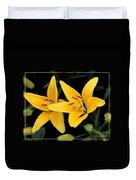 Yellow Beauties Duvet Cover