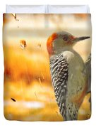Yellow-bellied Woodpecker Duvet Cover