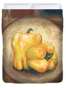 Yellow Bell Peppers Duvet Cover