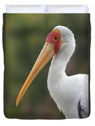 Yellow-billed Stork Duvet Cover