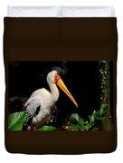 Yellow Billed Stork Peers At Camera Duvet Cover