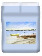 Yellow Boat I Duvet Cover