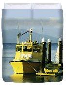 Yellow Boats Duvet Cover by Ellen Henneke