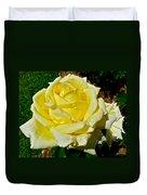Yellow Bob Berry Rose Duvet Cover