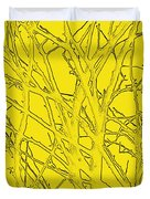 Yellow Branches Duvet Cover