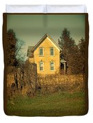 Yellow Brick Farmhouse Duvet Cover