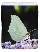 Yellow Brimstone Duvet Cover