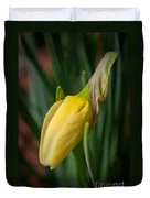 Yellow Bud Duvet Cover