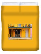 Yellow Buidling Mexico Duvet Cover