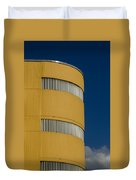 Yellow Building Duvet Cover