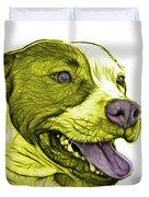 Yellow Bull Fractal Pop Art - 7773 - F - Wb Duvet Cover