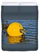 Yellow Buoy Duvet Cover