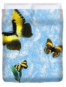 Yellow Butterflies - Spring Art By Sharon Cummings Duvet Cover