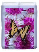 Yellow Butterfly Resting Duvet Cover